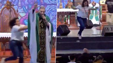 ब्राजील: पादरी ने दिया विवादित बयान, कहा-'मोटी लड़कियां स्वर्ग में नहीं जाती', गुस्साई लड़की ने दिया धक्का, देखें वायरल वीडियो