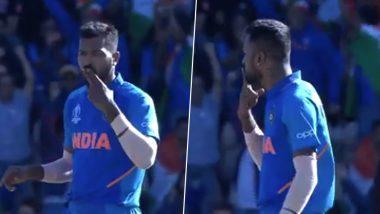 IND vs BAN, ICC CWC 2019: हार्दिक पांड्या ने फ्लाइंग किस देकर शाकिब अल हसन को भेजा पवेलियन, देखें वीडियो