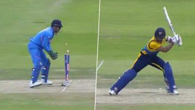 IND vs SL, ICC CWC 2019: धोनी ने विकेट के पीछे फिर दिखाया कमाल, लाजवाब स्टंपिंग कर कुसल मेंडिस को वापस भेजा पवेलियन, देखें वीडियो
