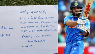 ICC CWC 2019: विराट कोहली ने सुपर फैन दादी चारुलता के लिए लिखा पत्र, यूजर्स ने बुरी हैंडराइटिंग के लिए किया ट्रोल