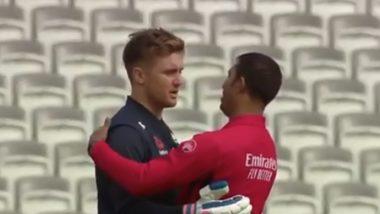 ENG vs NZ, ICC CWC 2019 Final: जेसन रॉय और कुमार धर्मसेना ने एक दूसरे को गले लगाकर एक बार फिर क्रिकेट को 'जेंटलमैन' का खेल साबित किया, देखें वीडियो