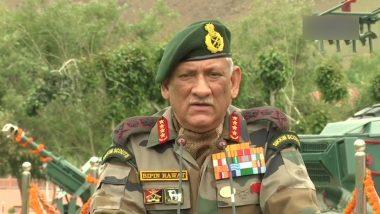 Kargil Vijay Diwas: द्रास में आर्मी चीफ बिपिन रावत ने दी शहीदों को श्रद्धांजलि, कहा- हम सीमाओं पर डटें हैं, पाकिस्तान नहीं करेगा दोबारा कोई दुस्साहस