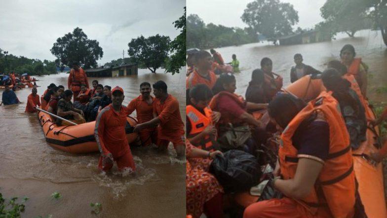 Image result for महालक्ष्मी एक्सप्रेस में फंसे यात्रियों तक 18 घंटे बाद पहुंची मदद, 500 को बचाया गया