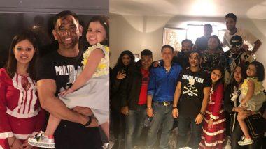 महेंद्र सिह धोनी ने परिवार और टीम सदस्केयों के साथ मनाया जन्मदिन, पत्नी साक्षी धोनी ने सोशल मीडिया पर शेयर की तस्वीरें