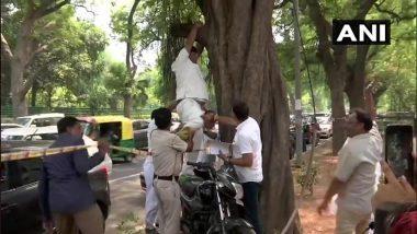 कांग्रेस मुख्यालय के बाहर कार्यकर्ता ने किया आत्महत्या का प्रयास, कहा- राहुल गांधी वापस लें इस्तीफा
