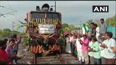 तमिलनाडु: 50 बोगियों वाली विशेष ट्रेन आज पहुंचेगी चेन्नई, हर बोगी में 50,000 लीटर पानी ढोने की क्षमता