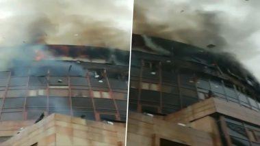 आग से राख हुआ दिल्ली स्वास्थ्य महानिदेशालय का दफ्तर, वीडियो में देखें भयानक मंजर