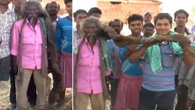 बिहार: मुंगेर के इस शख्स ने अपने 6ft लंबे बालों को 40 साल से नही धोए, देखें वीडियो