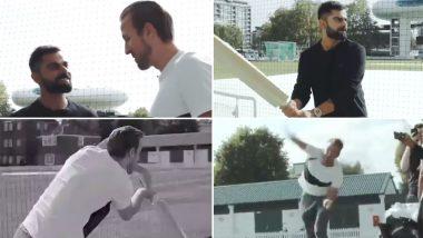 ICC CWC 2019: श्रीलंका के खिलाफ मैच से पहले विराट कोहली ने फुटबॉल प्लेयर हैरी केन की गेंद पर लगाए करारे शॉट, देखें वीडियो