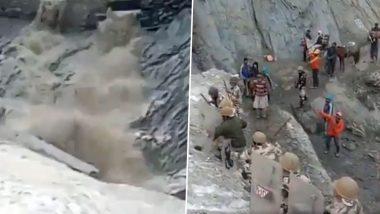 पहाड़ से गिर रहे थे पत्थर, अमरनाथ यात्रा मार्ग पर शिवभक्तों के लिए चट्टानों के सामने ढाल बनकर खड़े हुए  ITBP जवान- देखें वीडियो