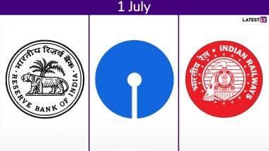 रिजर्व बैंक, इंडियन रेलवे और SBI के ये 5 बड़े बदलाव जरुर पढ़े, आज से हो गया लागू