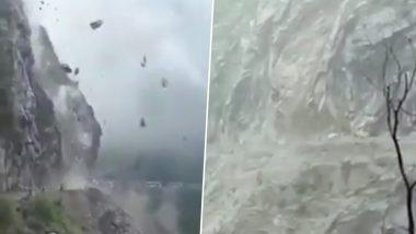जम्मू-कश्मीर: रामबन में खौफनाक मंजर, पहाड़ से सड़क पर गिर रहे बड़े-बड़े पत्थर- देखें Video