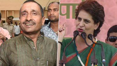 उन्नाव रेप केस के आरोपी विधायक की योगी के साथ तस्वीर शेयर कर कांग्रेस महासचिव प्रियंका गांधी ने पूछा-अब तक बीजेपी से क्यों नहीं निकाला