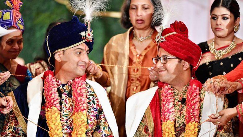 अमेरिका: पराग और वैभव इन दोनों भारतीय पुरुषों ने एक दूसरे से की अनोखे अंदाज में शादी, देखें तस्वीरें