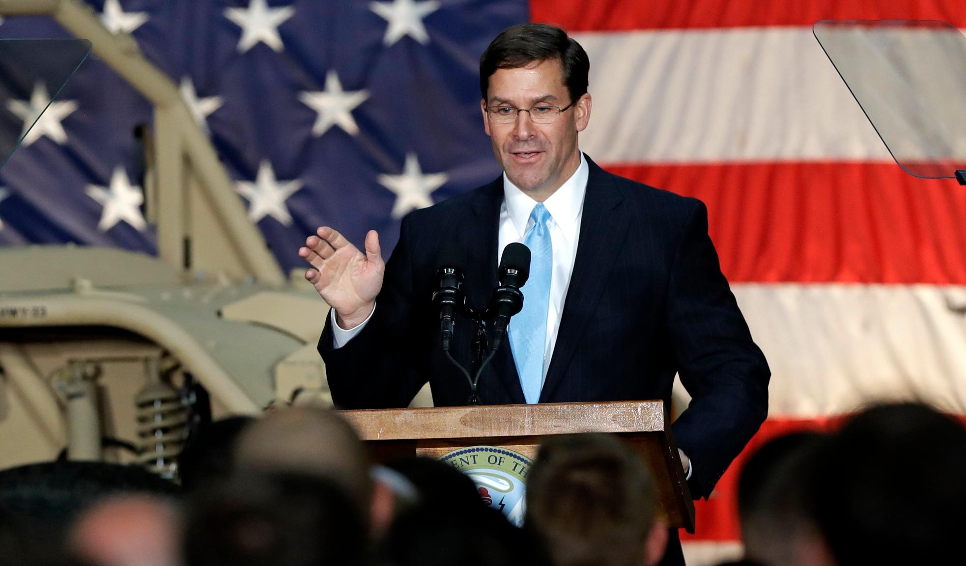 अमेरिकी रक्षा मंत्री मार्क एस्पर ने कहा- सऊदी अरब और युएई के खाड़ी क्षेत्र में अमेरिका के सुरक्षा बलों को भेजा जाएगा