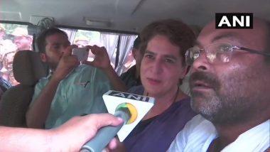 सोनभद्र नरसंहार: प्रियंका गांधी को हिरासत में लिया गया, मृतकों के परिजनों से जा रही थीं मिलने