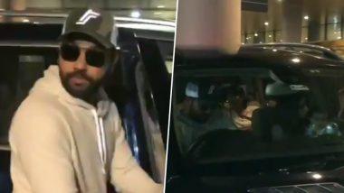 ICC CWC 2019: वर्ल्ड कप में हार के बाद रोहित शर्मा बाकी खिलाड़ियों से पहले अपनी बेटी और पत्नी संग पहुंचे मुंबई, देखें वीडियो