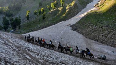 जम्मू-कश्मीर: खराब मौसम के कारण अमरनाथ यात्रा स्थगित, बालटाल और पहलगाम मार्गो पर हो रही है बारिश