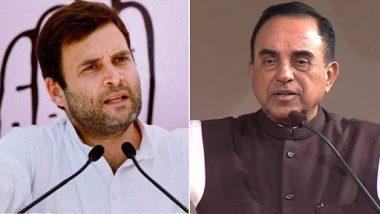 राहुल गांधी के खिलाफ आपत्तिजनक टिप्पणी करने का आरोप, BJP नेता सुब्रमण्यम स्वामी के खिलाफ केस दर्ज