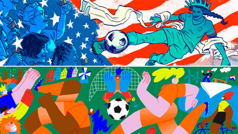 महिला विश्व कप 2019 फाइनल: Google ने Doodle बनाकर किया सेलिब्रेट, अमेरिका और नीदरलैंड आमने- सामने