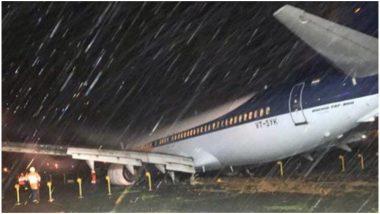 मुंबई एयरपोर्ट पर लैंडिंग के वक्त रनवे पर फिसला स्पाइसजेट का विमान, बाल-बाल बचे यात्री