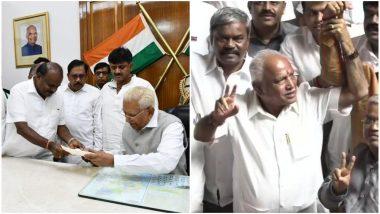 कर्नाटक में कांग्रेस-जेडीएस गठबंधन की सरकार गिरी, कुमारस्वामी ने दिया इस्तीफा, बीजेपी पेश करेगी सरकार बनाने का दावा