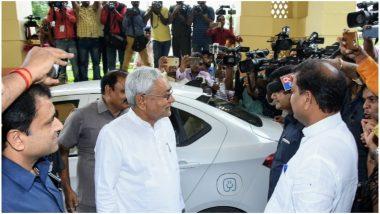 बिहार: सीएम नीतीश कुमार ने दिया पर्यावरण संरक्षण का संदेश, इलेक्ट्रिक कार से विधानसभा पहुंचे