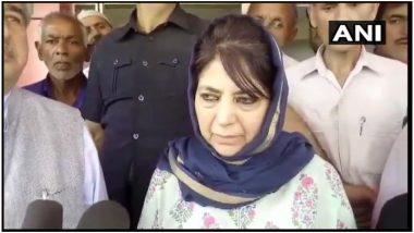 जम्मू कश्मीर: महबूबा मुफ्ती ने कहा- 35A की हिफाजत के लिए हम जान और माल कुर्बान करने के लिए तैयार