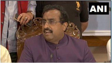 बीजेपी महासचिव राम माधव ने कहा- स्थानीय नेता अपने स्वार्थी उद्देश्यों के लिए जम्मू कश्मीर में भय का माहौल बना रहे