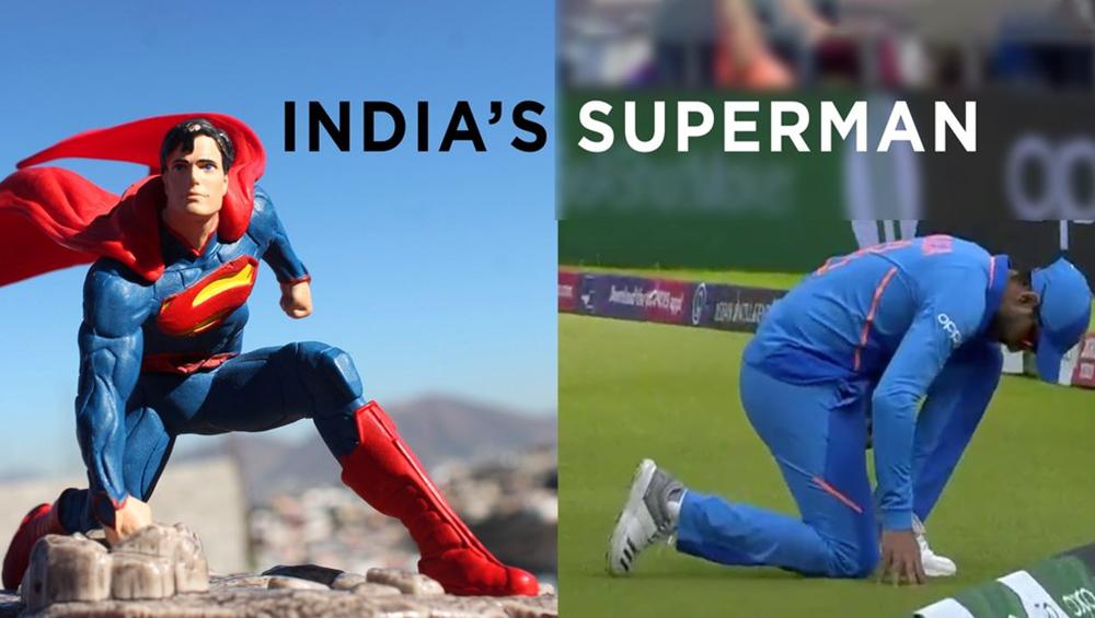IND vs NZ, ICC CWC 2019 Semi-Final: कैच लेने के बाद जड़ेजा का पोज हुआ वायरल, यूजर्स ने बताया भारत का सुपरमैन