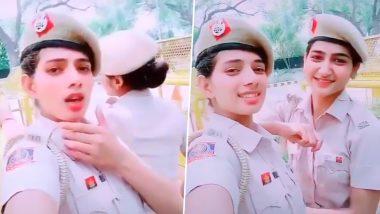 दिल्ली पुलिस की 2 महिला कांस्टेबल पर चढ़ा TikTok का बुखार, ड्यूटी के दौरान हरियाणवी गाने पर थिरकती दिखीं, देखें Viral Video