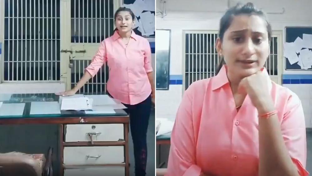 Tik Tok का बुखार: महिला पुलिस कर्मचारी का जेल में डांस करते हुए वीडियो वायरल, हुई सस्पेंड, देखें Video