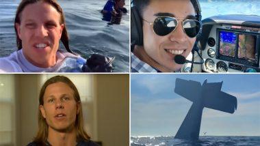 प्रशांत महासागर में प्लेन क्रैश होने के बाद पायलट ने ली सेल्फी वीडियो, देखें Viral Video