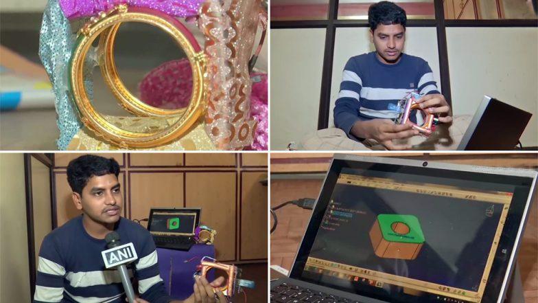 हैदराबाद: 23 वर्षीय गादी हरीश ने महिलाओं की सुरक्षा के लिए बनाए 'Self Security Bangle', हमलावर के हाथ लगाने पर लगेगा करंट