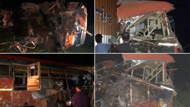 महाराष्ट्र में बड़ा सड़क हादसा: धुले में बस और ट्रक के बीच जबरदस्त टक्कर, 10 की मौत- 20 लोग घायल