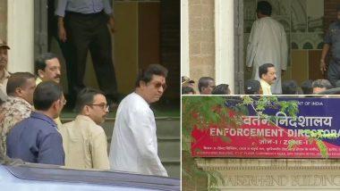 IL&FS: MNS चीफ राज ठाकरे अपनी पत्नी और दोनों बच्चों के साथ पहुंचे ED के दफ्तर, पूछताछ शुरू