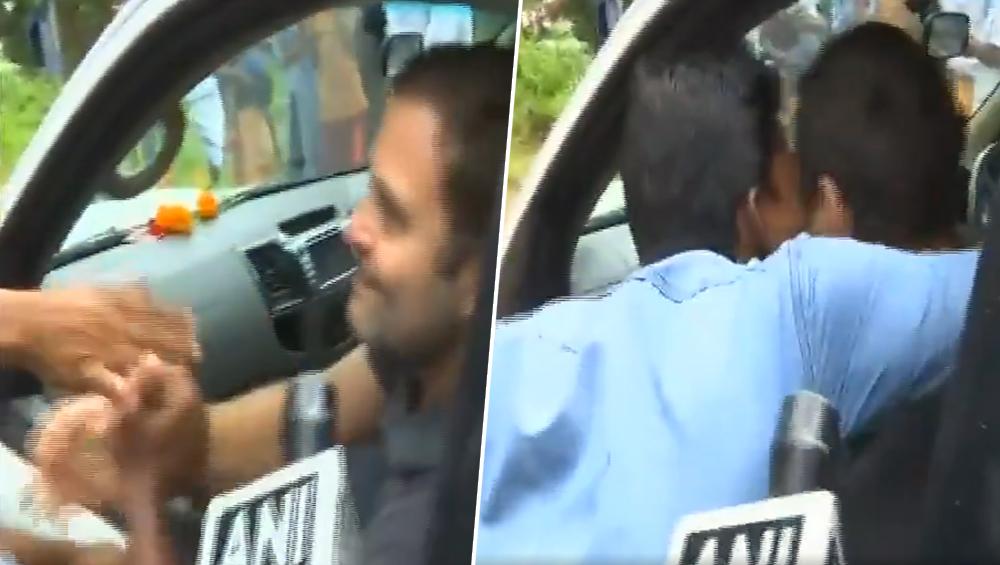 राहुल गांधी की सुरक्षा में बड़ी चूक! वायनाड में शख्स ने जबरन किया KISS, देखें वीडियो