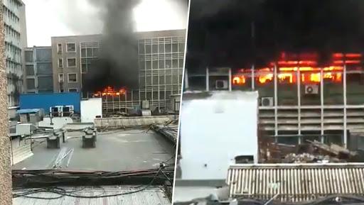 मुंबई: मंत्रालय की चौथी मंजिल पर लगी आग, दमकल की कई  गाड़ियां  मौके पर