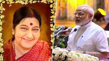 सुषमा स्वराज के लिए श्रद्धांजलि सभा में पीएम नरेंद्र मोदी ने कहा- वह सबके लिए प्रेरणा थीं