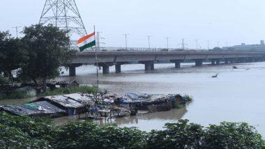 यमुना नदी जल स्तर में दो दिनों बाद खतरे की निशान से नीचे, पानी छोड़े जाने के कारण जल स्तर में हुई थी बढ़ोतरी