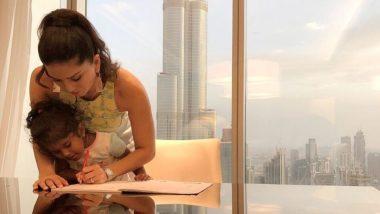 सनी लियोन ने बेटी निशा की होमवर्क को पूरा करने में की मदद, सोशल मीडिया पर शेयर की खुबसूरत तस्वीर