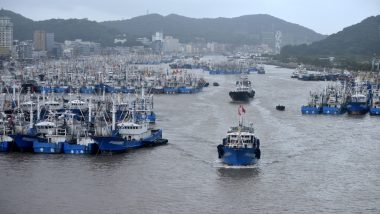 चीन: तूफान लेकिमा ने दी दस्तक, 10 लाख लोगों को सुरक्षित इलाकों में भेजा गया