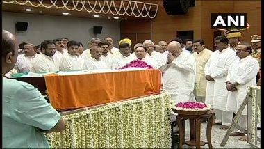 अलविदा अरुण जेटली: अंतिम सफर पर पूर्व वित्त मंत्री, कुछ ही देर में निगमबोध घाट पहुंचेगा पार्थिव शरीर
