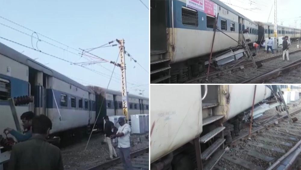 उत्तर प्रदेश में रेल हादसा: कानपुर सेंट्रल रेलवे स्टेशन के पास ट्रेन के चार डिब्बे पटरी से उतरे