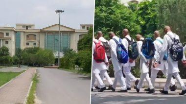 यूपी के सैफई मेडिकल कॉलेज में सीनियर्स ने की रैगिंग, मुंडवा दिए 150 जूनियर छात्रों के सिर, देखें Video
