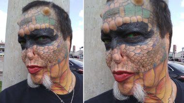 डरावना दिखने के लिए इस शख्स ने खर्च किए करोड़ों रूपये, अपने आपको इंसान नहीं मानता है रैटलस्नेक और ड्रैगन, देखें वीडियो