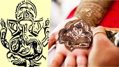 Ganesh Chaturthi 2019 Special Mehndi Designs: इस गणेशोत्सव को खास बनाने के लिए अपने हाथों में लगाएं गणपति बाप्पा के मनमोहक मेहंदी डिजाइन, देखें तस्वीरें और वीडियो