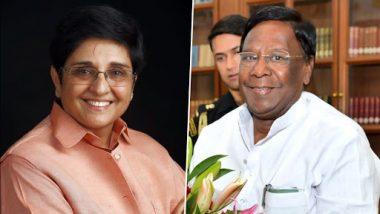 पुडुचेरी: उप राज्यपाल किरण बेदी और सीएम वी. नारायणसामी ने लोगों को दी 73वें स्वतंत्रता दिवस की शुभकामनाएं