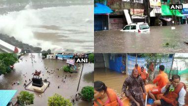 Maharashtra Rains: महाराष्ट्र में बारिश से हाहाकर, जलभराव की वजह से जन-जीवन प्रभावित, देखें अलग-अलग जगहों की तस्वीरें