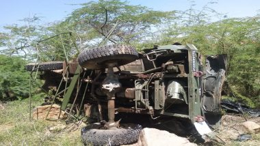 राजस्थान के बाड़मेर की चौहटन पहाड़ी पर पलटा एयरफोर्स का ट्रक, 3 जवानों की मौत
